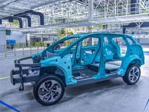 钢铝混合车身如何成型 爱驰汽车上饶工厂