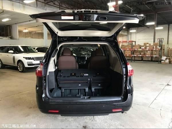 20款丰田塞纳四驱顶配黑/棕加规版评测