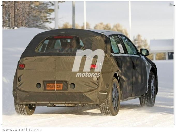 现代全新纯电SUV路试谍照 2021年亮相