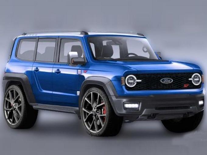 大量运动化元素 福特新Bronco ST渲染图