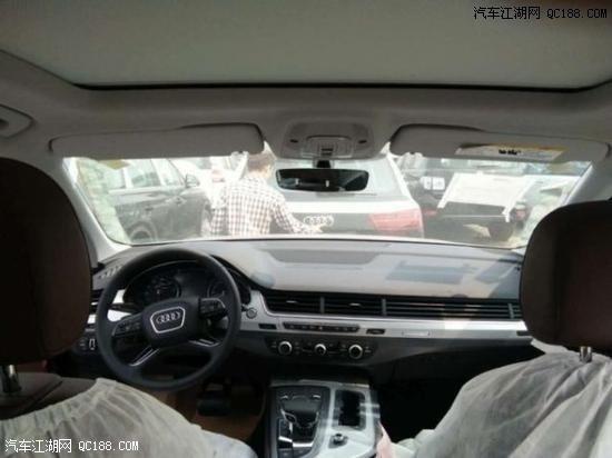 2019款奥迪Q7黑外咖内现车内饰外观实拍