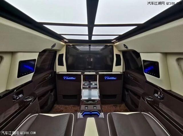 四座凯迪拉克总统一号5.7米商务车评测