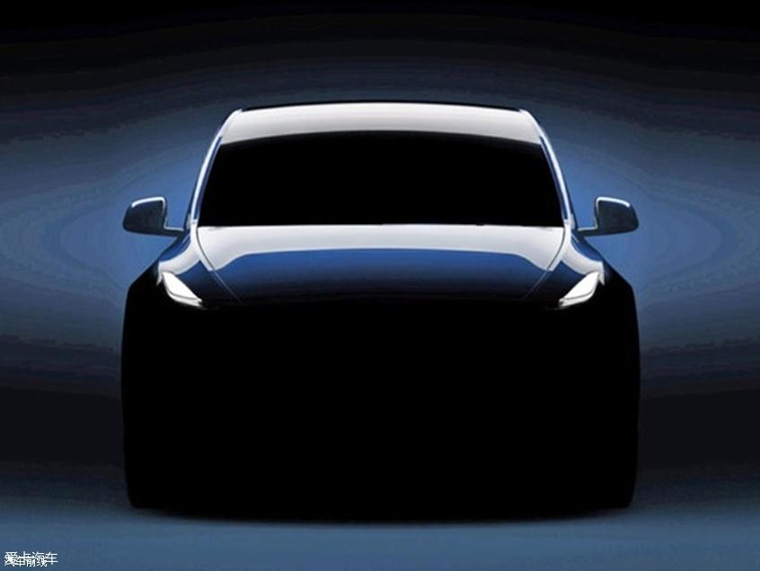 特斯拉Model Y最新预告图 3月14日亮相