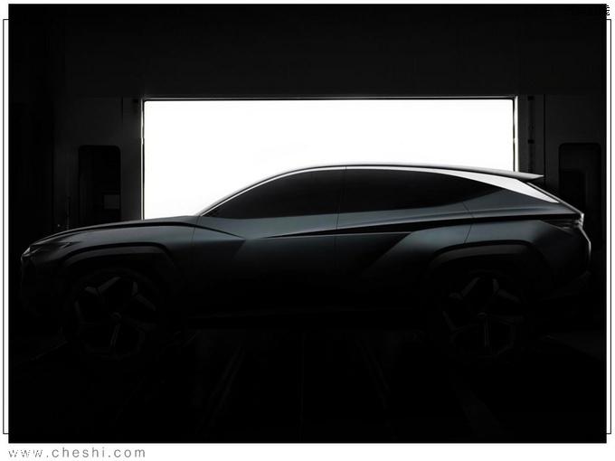 现代全新轿跑SUV预告图本月亮相/推插混版车型-图2
